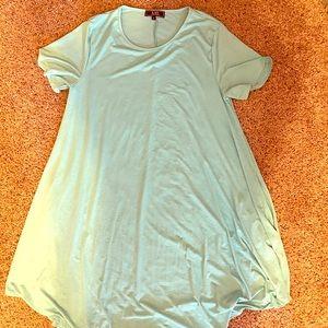 L&B Pocket Flutter Short sleeve Dress in MINT